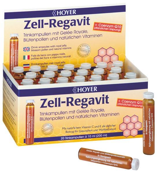 Zell-Regavit mit Gelee Royale, Blütenpollenextrakt, natürlichen Vitaminen und Coenzym Q10