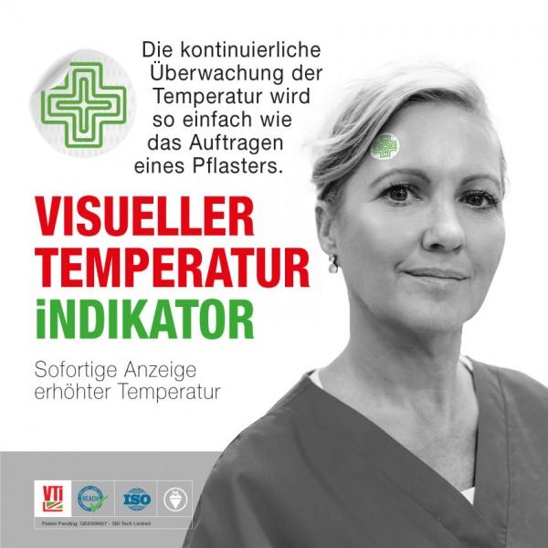 Visuelles Temperaturindikatorpflaster VTi