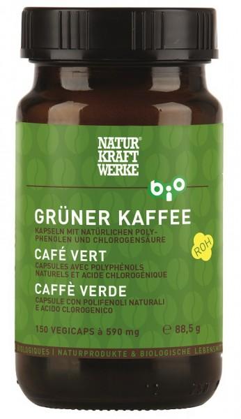 Grüner Kaffee mit Polyphenolen und Chlorogensäure, Vegicaps, BIO