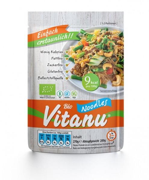 Vitanu Noodles, fettfreie, zuckerfreie und glutenfreie Nudeln aus dem Ballaststoff Glucomannan