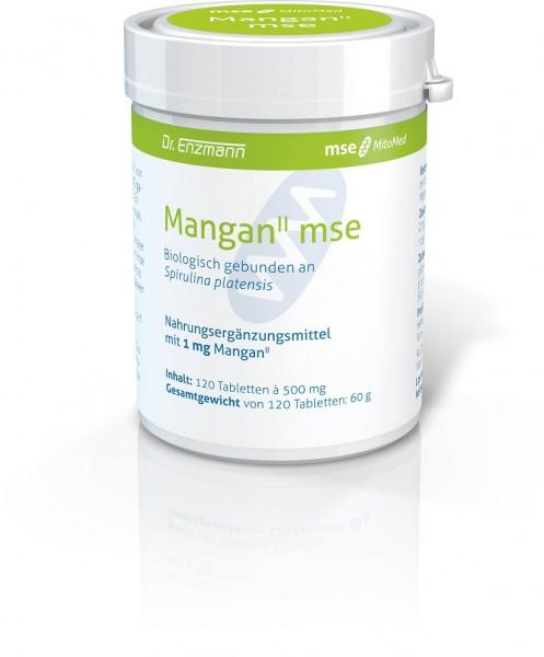 Mangan II mse 1 mg an Spirulina gebunden