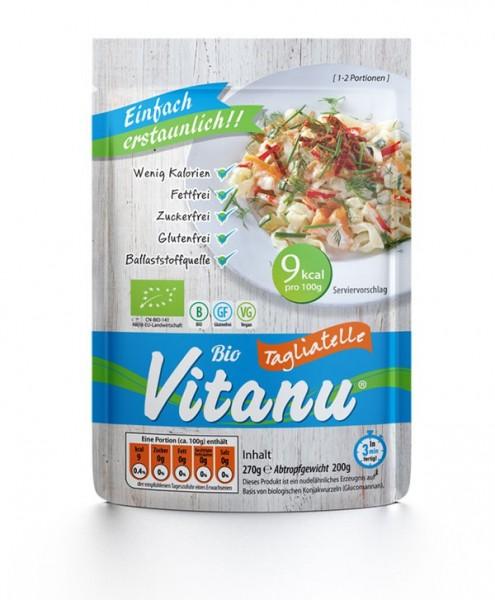 Vitanu Tagliatelle, fettfreie, zuckerfreie und glutenfreie Nudeln aus dem Ballaststoff Glucomannan