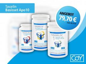 Basisset Apo10 mit Polyphenole-Mix PLUS, Vitamin- und Mineralstoffmix PLUS und Tocomin Plus