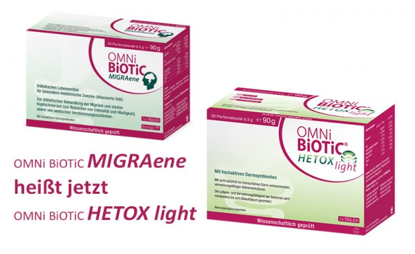 OMNi-BiOTiC Hetox light - Synbiotikum (ehemals MIGRAene)