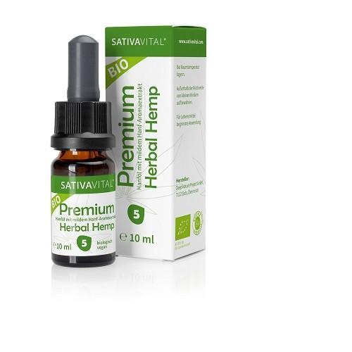 Bio SATIVAVITAL Holistic Herbal Hemp Öl 5% (10ml)