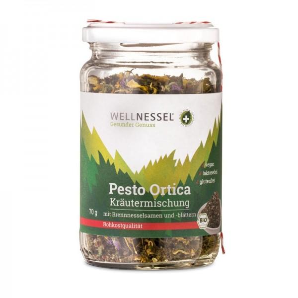 Pesto Ortica - Brennnesselpesto Kräutermischung mit Wildblüten und Brennnesselsamen, BIO