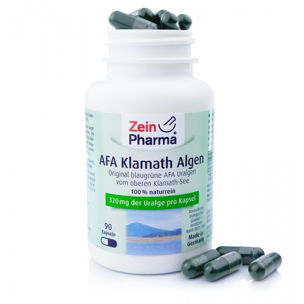 AFA Algen Kapseln mit Eiweiß, Mineralstoffen, Vitamine und sekundären Pflanzenstoffen