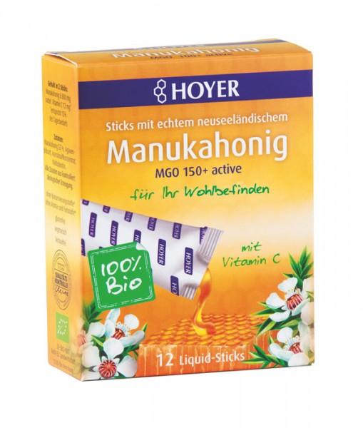 Manukahonig Liquid-Sticks MGO 150+ active mit natürlichem Vitamin C