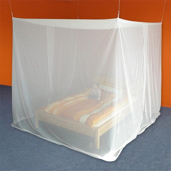 HF/Baldachin Kasten Doppelbett aus VOILE