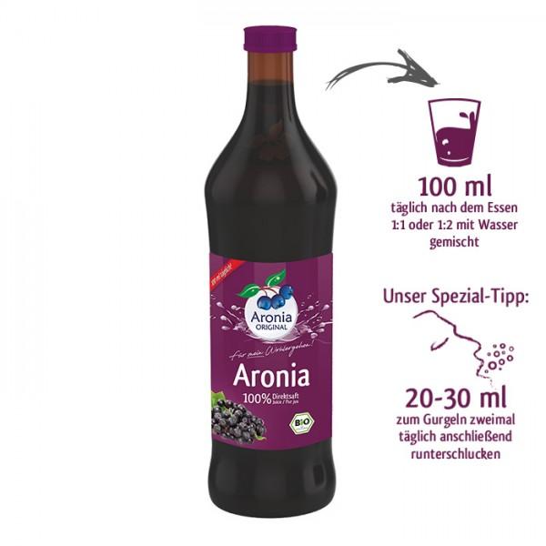 Bio Aronia-Direktsaft (Spezialglasflasche)