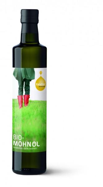 Mohnöl, BIO - kaltgepresst, 100% naturrein
