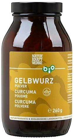 Gelbwurz Pulver mit Kurkuma, Bio 260 g
