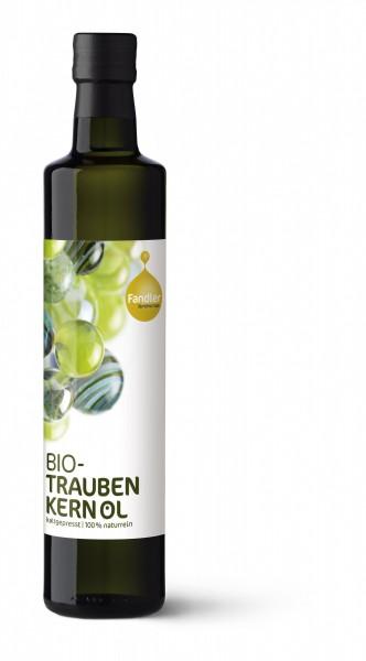 Traubenkernöl, BIO - kaltgepresst, 100% naturrein