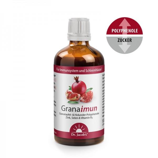Granaimun mit fermentierten Granatapfel,  Holunderbeeren, Zink, Selen  und Vitamin B2