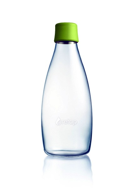 Retap Wasser-Trinkflasche 800 ml aus Borosilikatglas