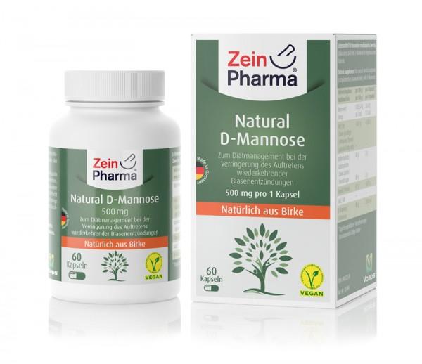 ZeinPharma Natural D-Mannose 500 mg Kapseln