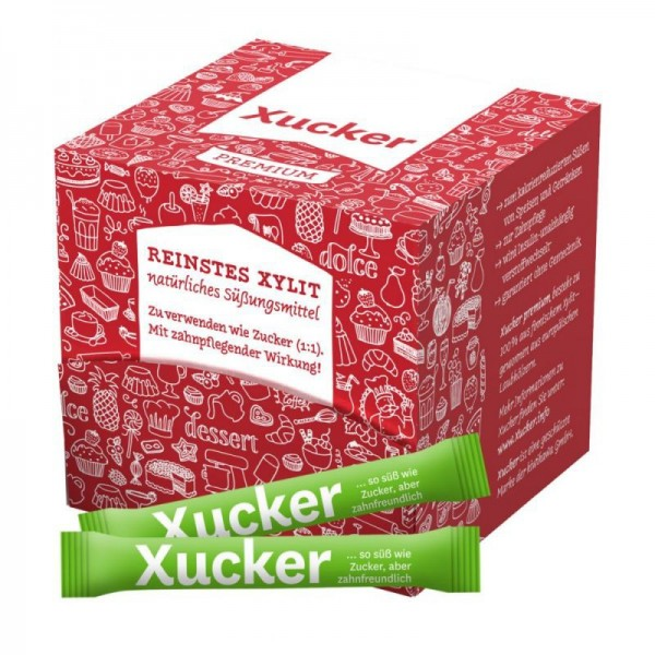 Xylit / Xylitol - 100 Xucker-Sticks in Schachtel