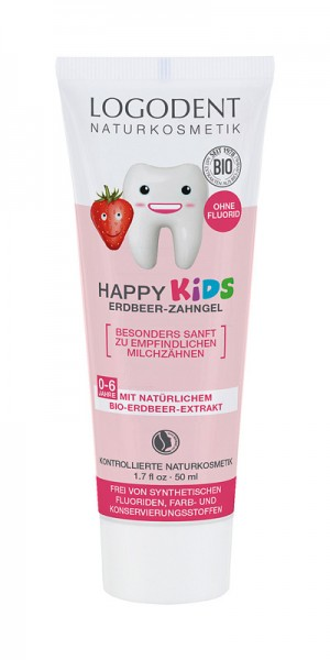 Kinder-Zahngel Logodent, ohne Fluor mit natürlichem Wirkstoffkomplexen