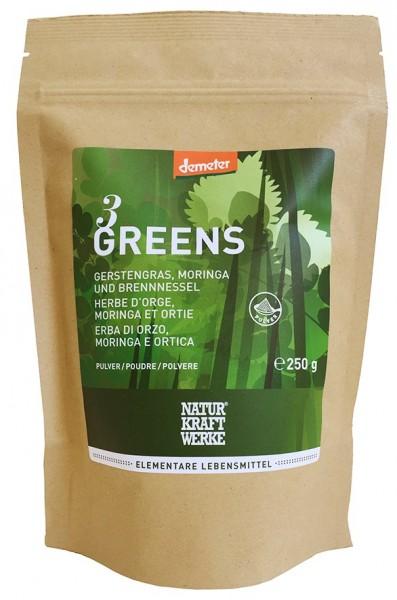 3 Greens - Gerstengras, Moringa und Brennessel
