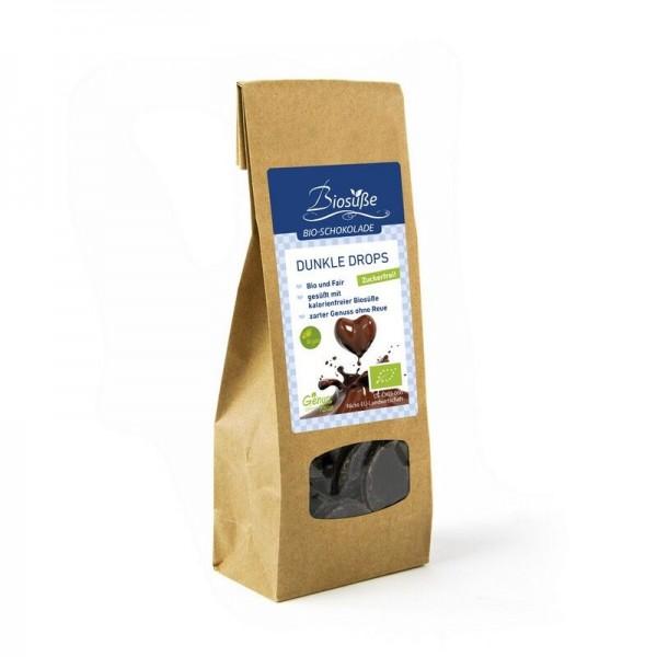 Biosüße Bio-Schokolade Dunkle Drops - 100 g Tüte