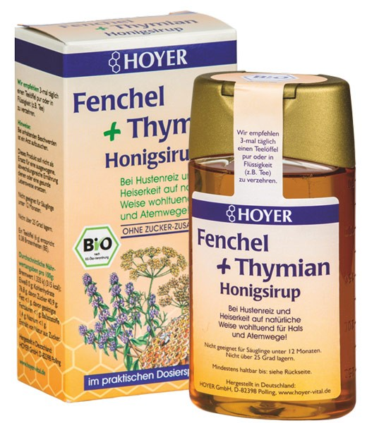 Fenchel und Thymian Honigsirup, BIO