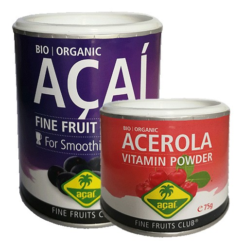 FRUIT POWDER - Bio Acai Detox Powder und Bio Acerola Vitamin Powder