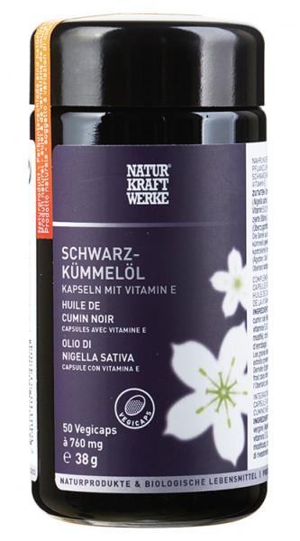 Schwarzkümmelöl-Kapseln aus biologisch-dynamisch angebauten Schwarzkümmelsamen