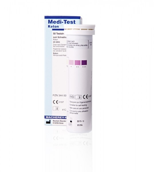 Keton Teststreifen für den Nachweis von Ketonkörpern (Ketose) im Urin