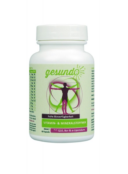 Vitamin- und Mineralstoffmix PLUS Q10, Bor, Alpha-Liponsäure & Tocotrienole