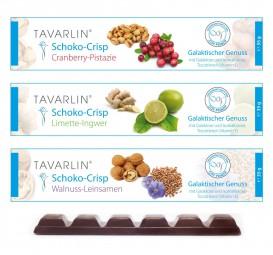 Schoko-Crisp TRIO: Cranberry - Limette - Walnuss