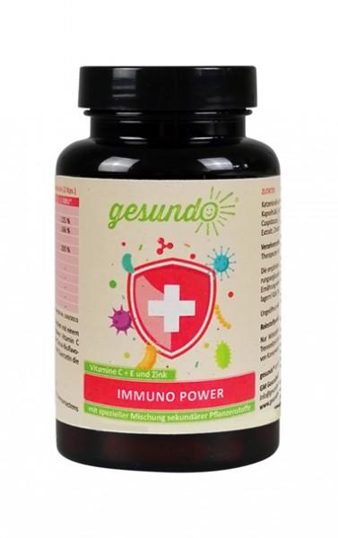 Immuno-Power mit Vitamin C + E, Zink,  Citrusbioflavonoiden, Katzenkralle und Quercetin