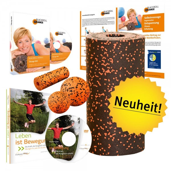 blackroll-orange Vital-Set plus STANDARD inkl. Übungsposter & DVD