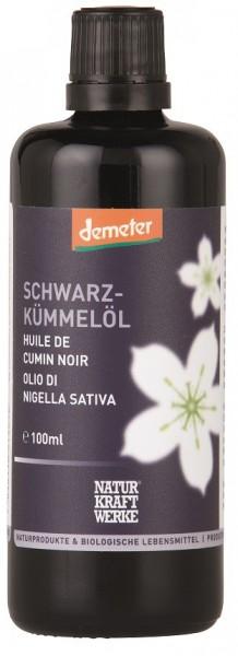 Schwarzkümmelöl im Schwarzviolett-Glas, BIO, demeter